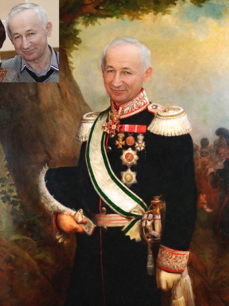 Где заказать исторический портрет по фото на холсте в Новосибирске?