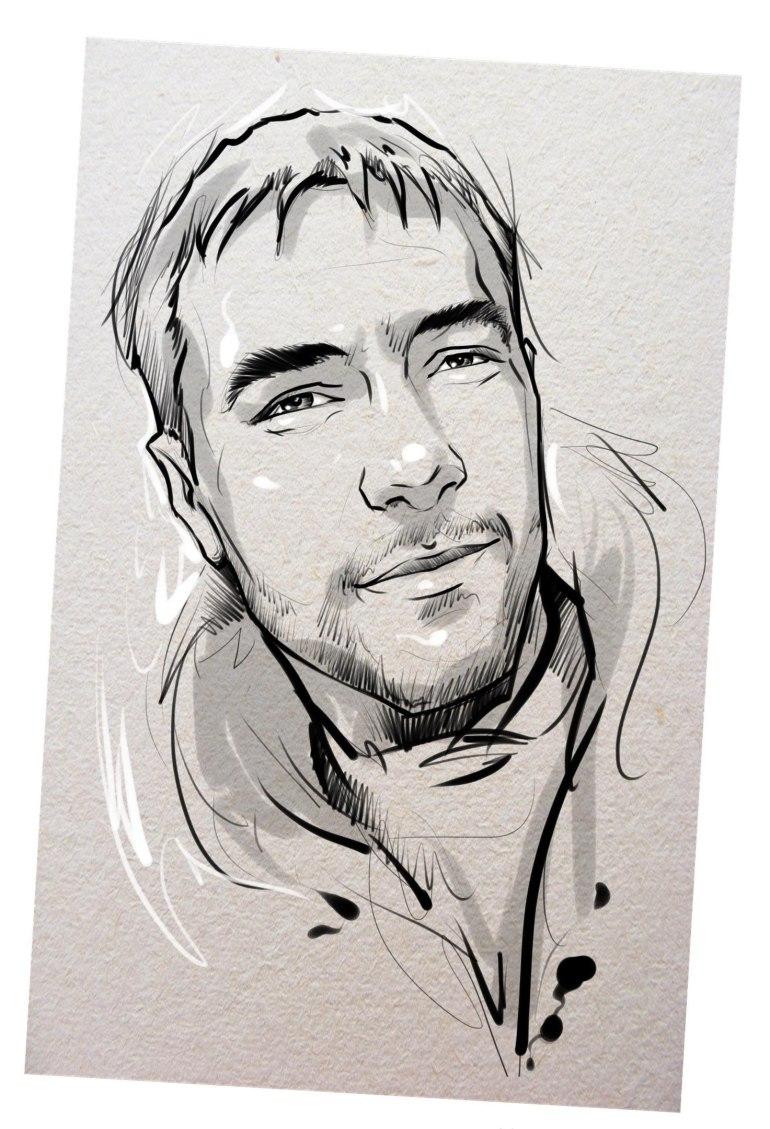 Портрет карандашом любимому мужу в Новосибирске…