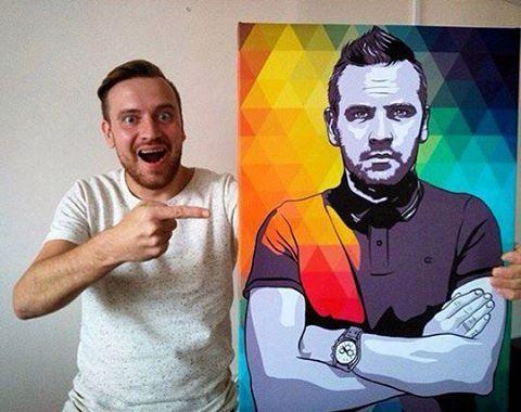 поп арт портрет на заказ для мужа в новосибирске
