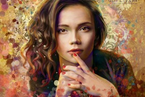Стилизованный портрет по фото в стиле гранж на заказ