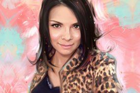 Портрет по фото, подарок на 14 февраля. Заказать в Новосибирске.
