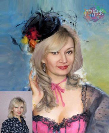 Заказать арт портрет по фото на холсте в Новосибирске