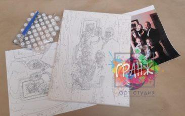 Картина по номерам по фото, портреты на холсте и дереве в Новосибирске